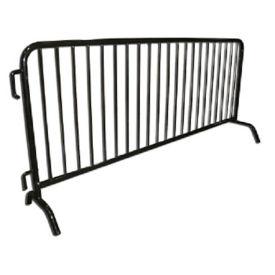 "Bridge Foot PVC-Coated Steel Barricade 102""W , V21646"