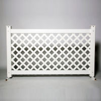 "Lattice Style Plastic Fence Panel 42""H , V21654"