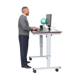 "Height Adjustable Compact Desk - 48""W, D30265"