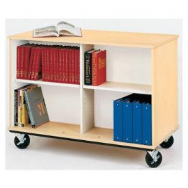 """Heavy-Duty Double Sided Teacher Book Cart - 36""""H, B30253"""
