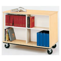 "Heavy-Duty Double Sided Teacher Book Cart - 36""H, B30253"