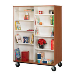 "Heavy-Duty Double Sided Mobile Teacher Book Cart - 67""H, B30250"
