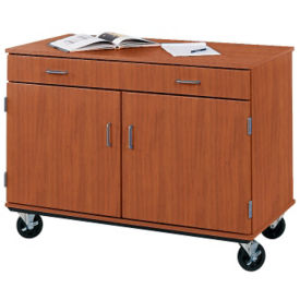 "Heavy-Duty Mobile Teacher Storage Cabinet with Drawer- 36""H, B30251"