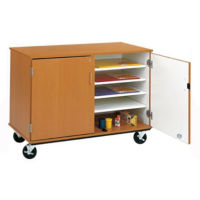 "Lockable Classroom Supply Teacher Storage Cart - 36""H, B30007"