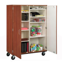 Mobile Divided Teacher Storage w/Lock, B30008