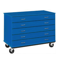 "Five Drawer Mobile Teacher Storage Unit - 24""D, B30036"