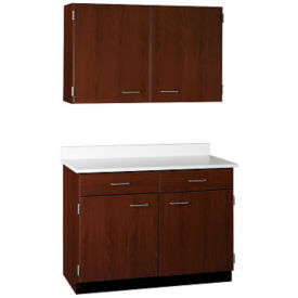 "Two Drawer, Four Door Wall and Base Cabinet Set - 48""W, B32172"