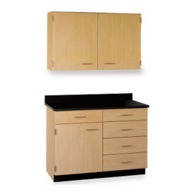 "Five Drawer, Three Door Wall and Base Cabinet Set  - 48""W, B32175"