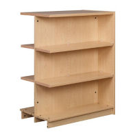 "Double Faced Shelving Adder, 3 Shelves, 47"" H, B34331"