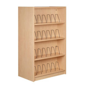 "Single Faced Shelving Adder with Wire Dividers and 4 Shelves, 61""H, B34323"