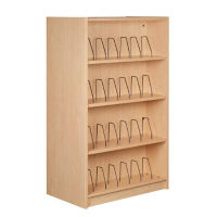 "Single Faced Shelving Adder with Wire Dividers and 5 Shelves, 74""H, B34325"