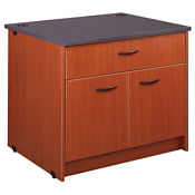 "Circulation Desk Module with Non-Locking Drawer and Cabinet 30""H, B34363"