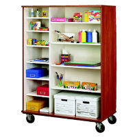 "Divided Twelve Shelf Mobile Storage Cabinet - 67""H, B34597"