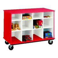 "Twelve Compartment Mobile Storage Cabinet - 36""H, B34598"