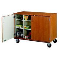 "Doored Twelve Compartment Mobile Storage Cabinet with Lock - 36""H, B34600"