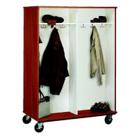 "Double-Sided Four Compartment Mobile Coat Cabinet - 67""H, B34604"