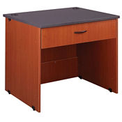"Circulation Desk Open Module with Locking Drawer 30""H, D35221"