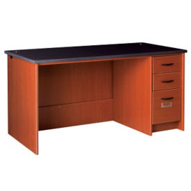 "Circulation Desk Station with Locking Right Pedestal 60""W x 30""H, D35227"