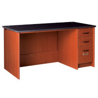 "Circulation Desk Station with Right Pedestal 60""W x 30""H, D35226"