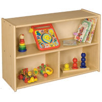 "Toddler Shelf Storage with 3 Compartments 24""H, P30281"