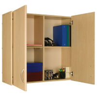 "Divided Wall Storage Unit with Doors 36""H, P30291"