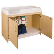 Infant Changing Table with Cabinet Assembled, P30367