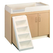 Walk Up Toddler Changing Table with 12 Bins, P30372