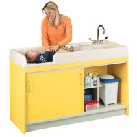 Diaper Changing Center with Right Hand Sink, P30307