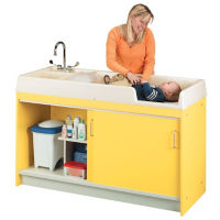Diaper Changing Center with Left Hand Sink, P30308