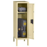 "Half Height Locker with Legs 18""D, B30477"