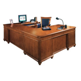 Executive U-Desk with Right Bridge, L40393