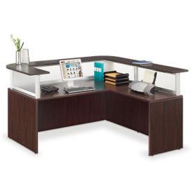 "Reception L-Desk - 71""W, D37550"