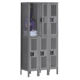 Double-Tier Ventilated Locker - Three Wide, B30407