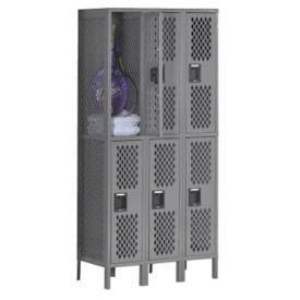 Double-Tier Ventilated Locker - Three Wide, B30407