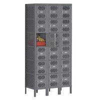 Six-Tier Ventilated Box Locker - Three Wide, B30409