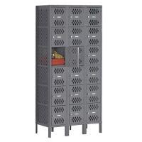 Six-Tier Ventilated Box Locker - Three Wide, B30409