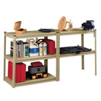 "Shelving Unit Work Bench - 36.5""W x 18.5""D x 72""H, B30608"