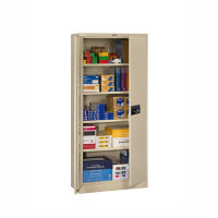 "Storage Cabinet with Keypad Lock 78""H x 18""D, B34289"