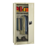 "Keypad Lock Wardrobe Cabinet - 78"" H, B34415"