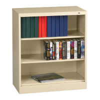 "42"" High Steel Bookcase, B30343"