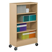 "62"" High Steel Mobile Bookcase, B30340"
