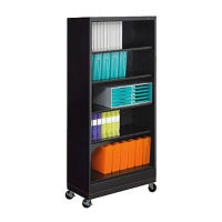 "79"" High Steel Mobile Bookcase, B30341"