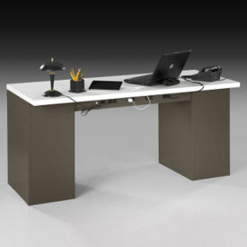 "Heavy-Duty Double Pedestal Steel Desk with Laminate Top - 72""W, D34552"