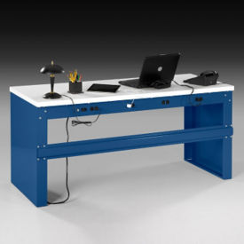 "Heavy-Duty Steel Desk with Laminate Top - 72""W, D34554"