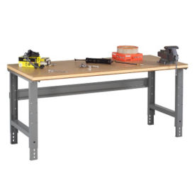 "Adjustable Height Compressed Wood Top Workbench - 60"" x 30"", T11388"