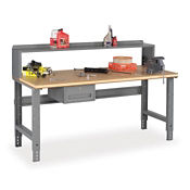 "Adjustable Height Compressed Wood Top Shop Table 72""W x 30""D, T11415"