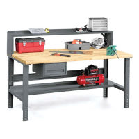 "Workbench with Riser and Storage - 36"" x 72"", T11787"