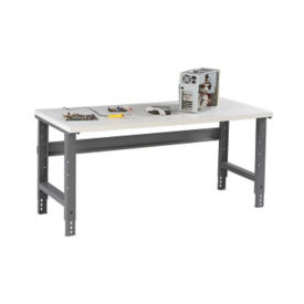 "Adjustable Height Laminate Top Shop Table 72""W x 36""D, T11386"