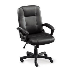 Mid Back Faux Leather Chair, C80328