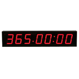 "4"" LED Seven Digit Clock with Timer - 30""W, V22117"